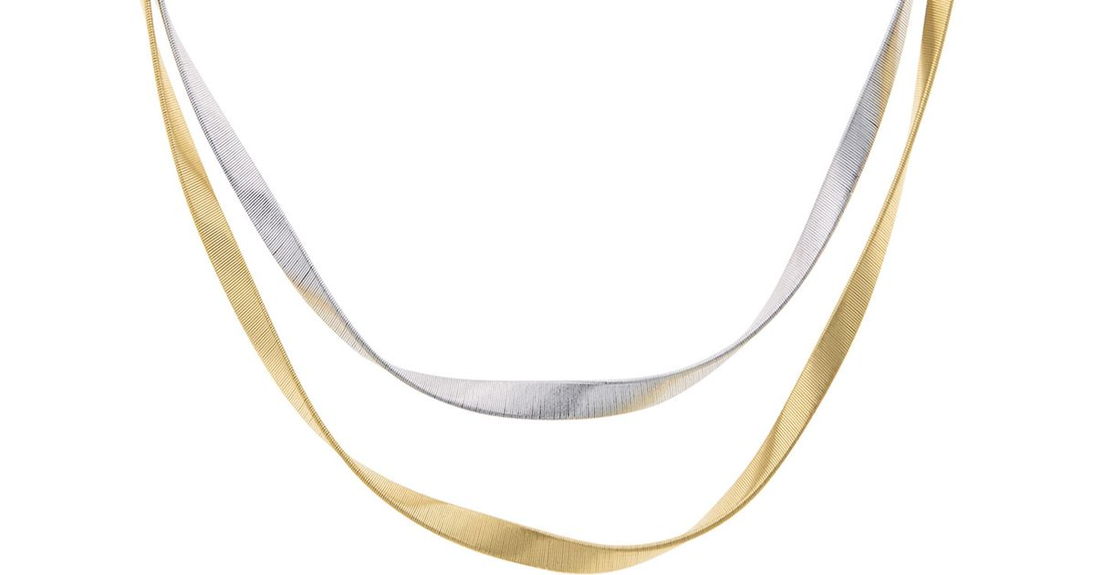 8addf5fd8ac658 Marco Bicego Marrakech Supreme Twisted 18k Gold Necklace in Metallic - Lyst