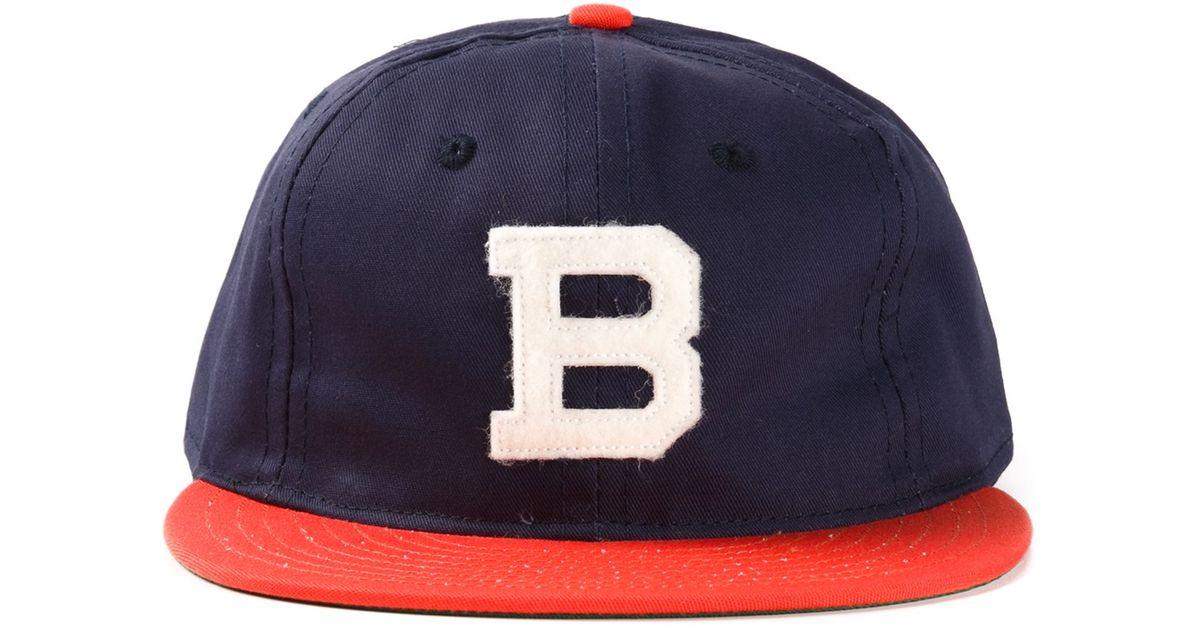 Lyst - Ebbets Field Flannels Brooklyn Bushwicks Baseball Cap in Blue for Men 130b4356556e