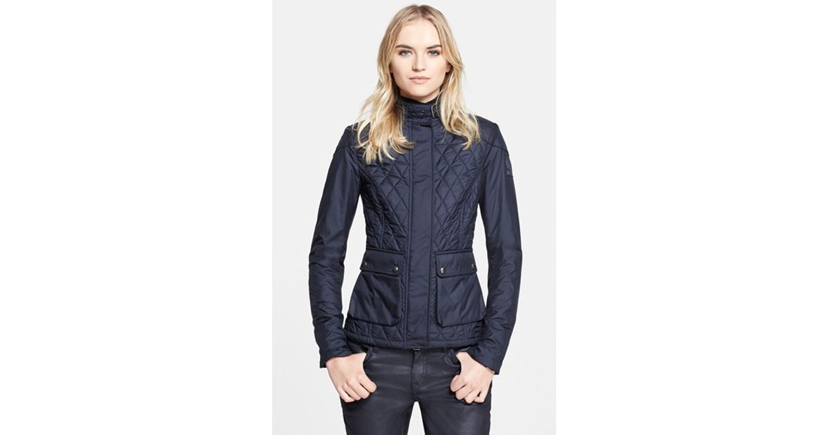Lyst Belstaff Aynsley Lightweight Tech Quilted Jacket In Blue