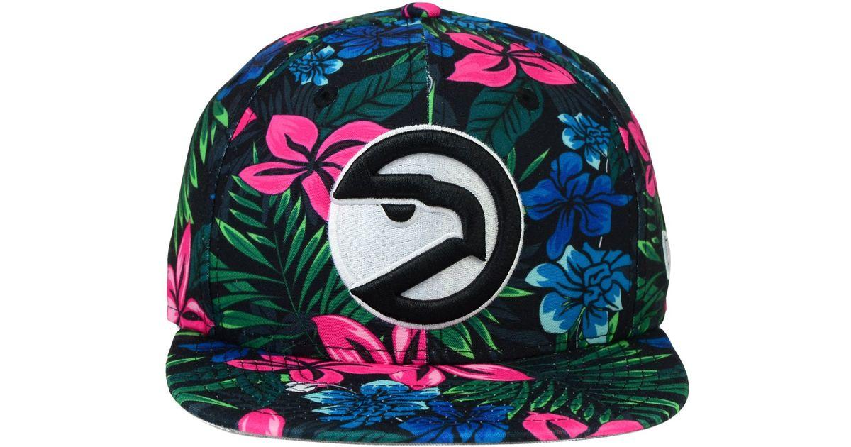 best service 76097 014f8 KTZ Atlanta Hawks Shadow Floral 9fifty Snapback Cap in Black for Men - Lyst