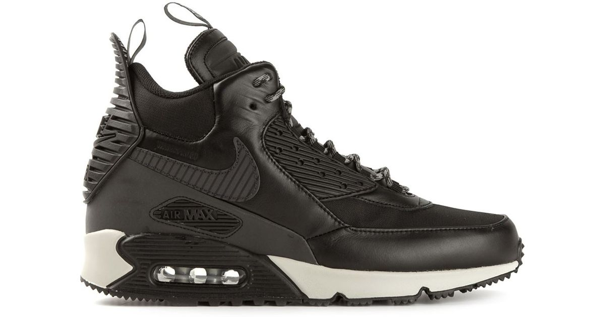 52a4f8b82c2 low cost lyst nike air max 90 sneakerboots in black for men 8440f 4660e