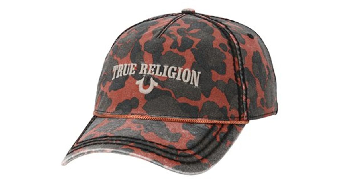 96ddbb516e87e Lyst - True Religion Camo Baseball Cap in Brown for Men
