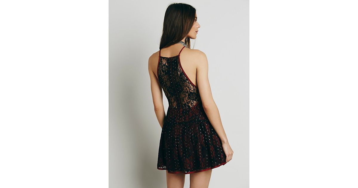b5e87ae580caa Free People Womens Wish Upon A Star Dress in Black - Lyst