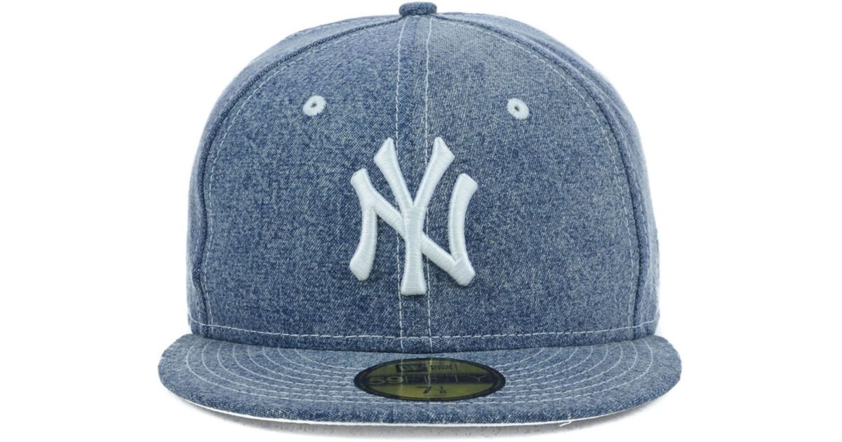 1fc257aae8d ... shopping lyst ktz new york yankees mlb classic denim 59fifty cap in  blue for men add24