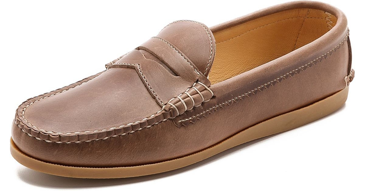 57db792c91a Lyst - Quoddy True Penny Loafer in Natural for Men