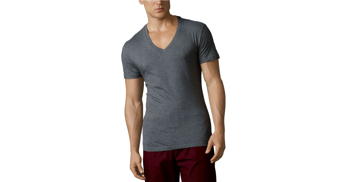 Polo Ralph Lauren V Neck T Shirt Three Pack In Gray For