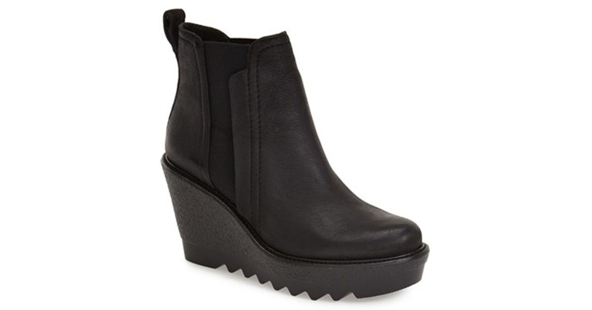vince camuto danisa wedge ankle boots in black lyst