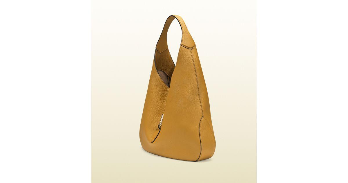 0926f543c7f3 Gucci Jackie Soft Leather Hobo in Orange - Lyst
