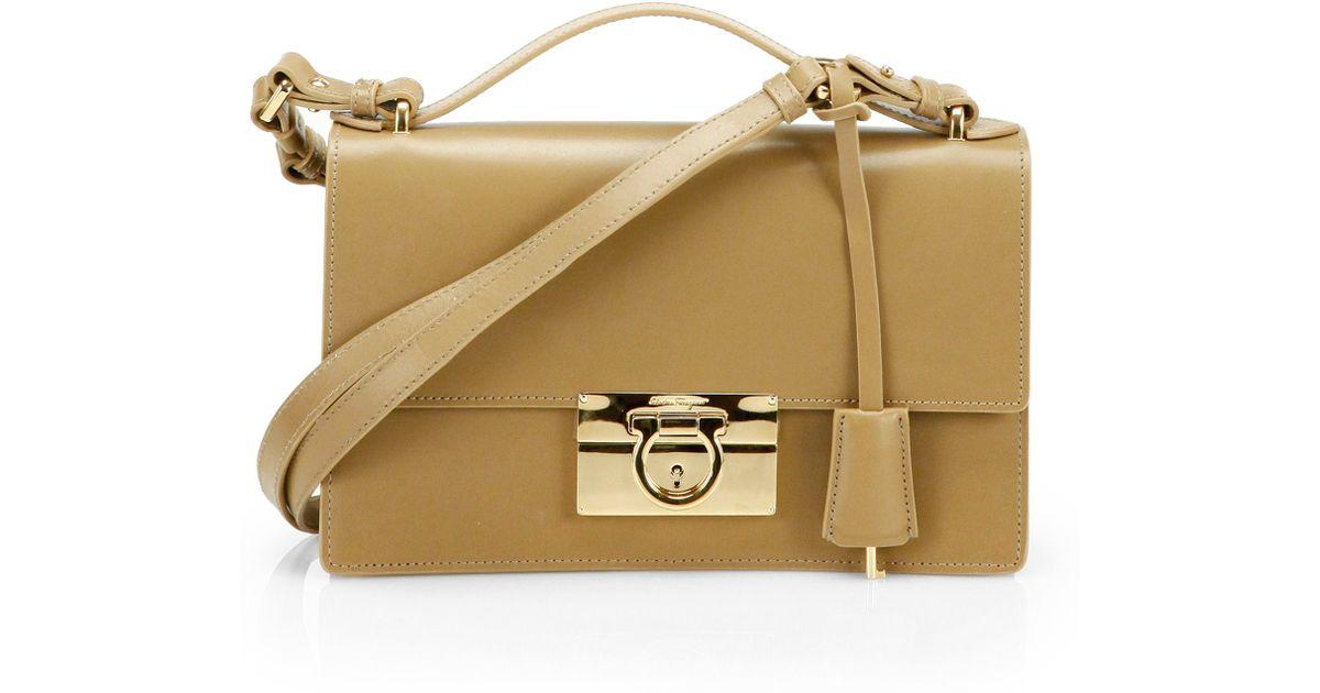 Ferragamo Aileen Shoulder Bag in Natural - Lyst ffd92af0bd127
