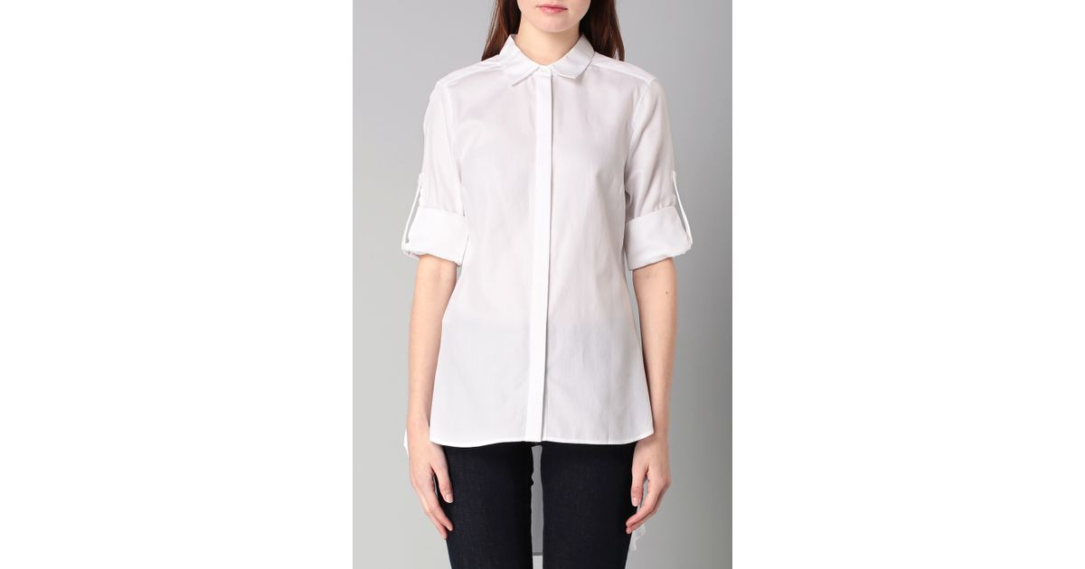 bcbgmaxazria shirt blouse in white lyst