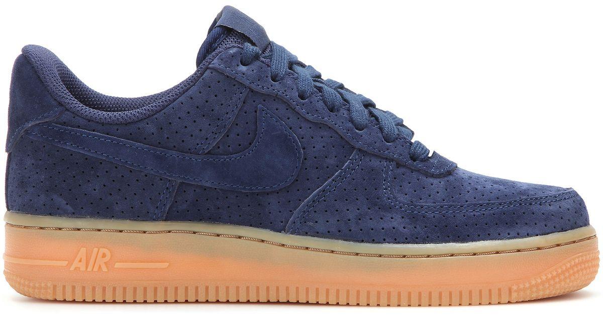5cec463da5 ... get lyst nike air force 1 suede sneakers in blue 4038a 050d9