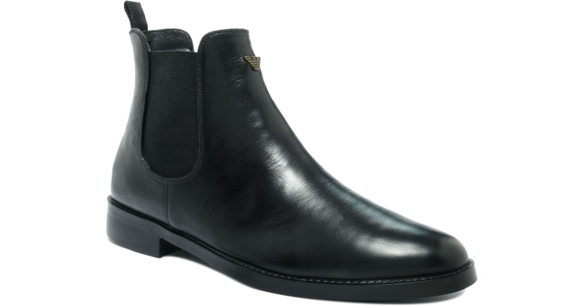 Boots Black Men In Jeans For Lyst Chelsea Armani wX8Okn0P
