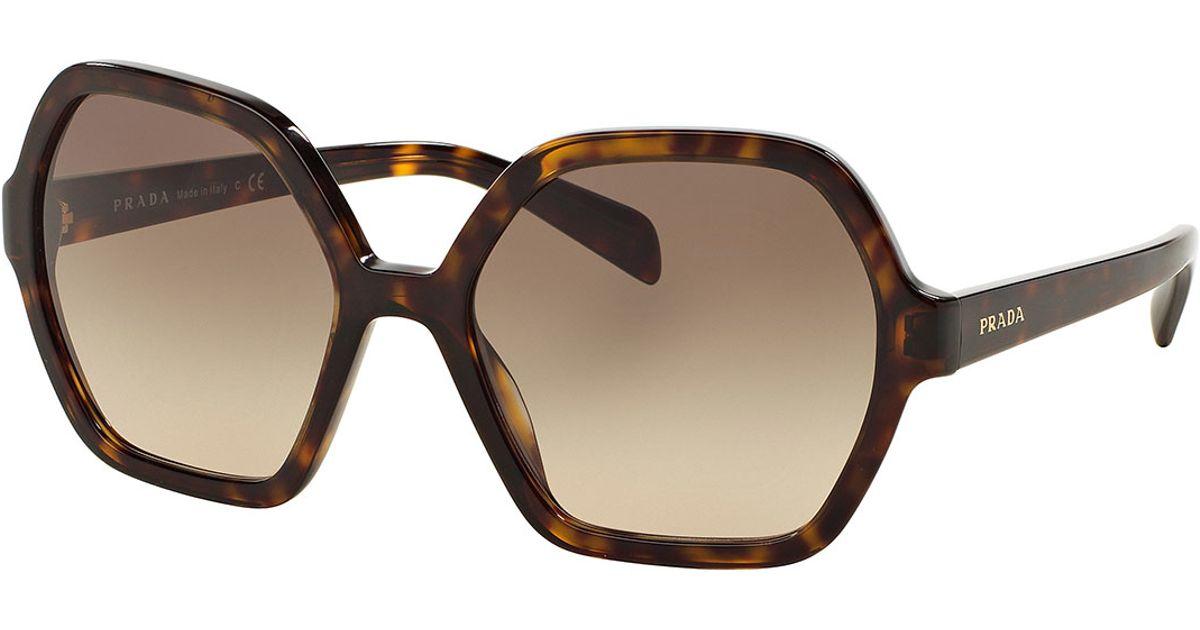 a8d1dc3c68ab ... netherlands lyst prada oversize hexagonal sunglasses 2cc57 b9c26