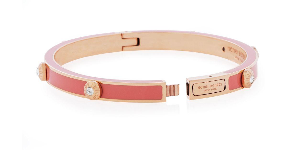 Lyst Henri Bendel Miss Bendel Rivet Bangle Bracelet In Pink