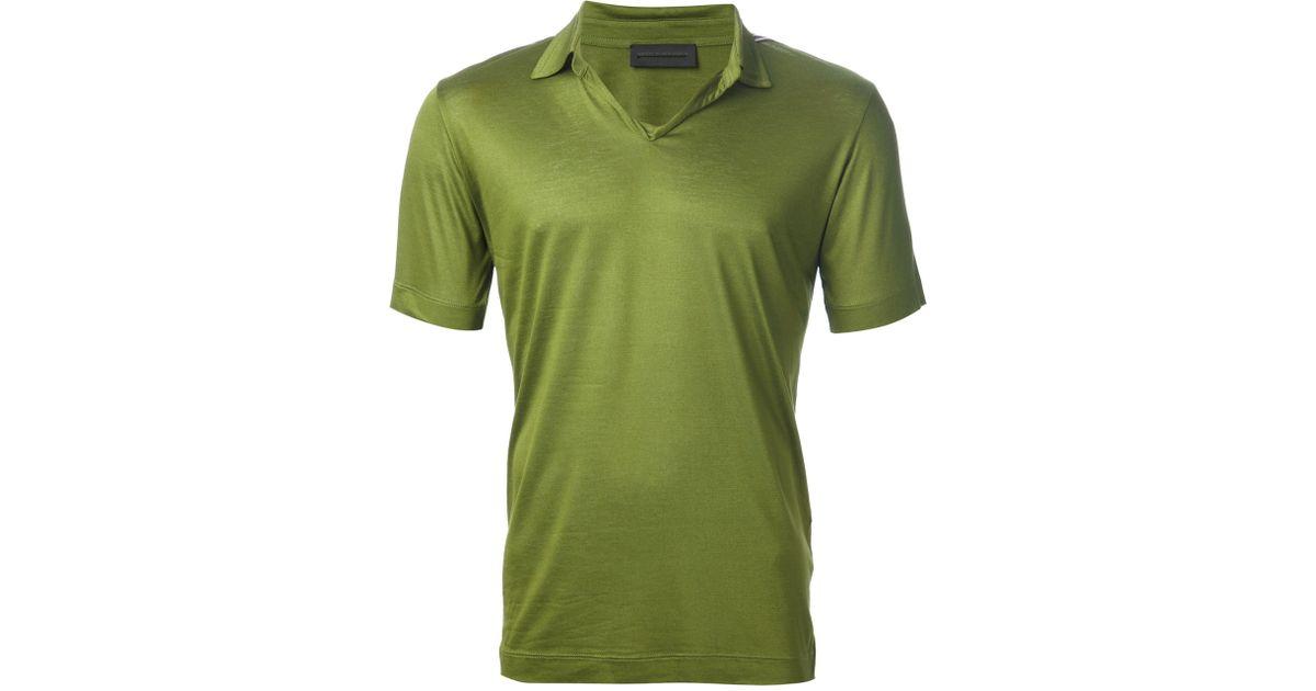 c715cc02 ... spain lyst diesel black gold torichi polo shirt in green for men 33b05  8e339