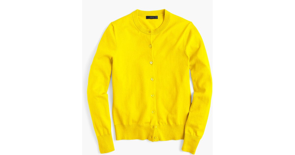 J.crew Cotton Jackie Cardigan Sweater in Yellow for Men | Lyst