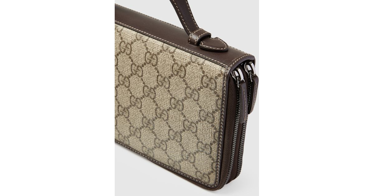ac95fce3d54e Gucci Gg Supreme Canvas Travel Document Case in Natural for Men - Lyst