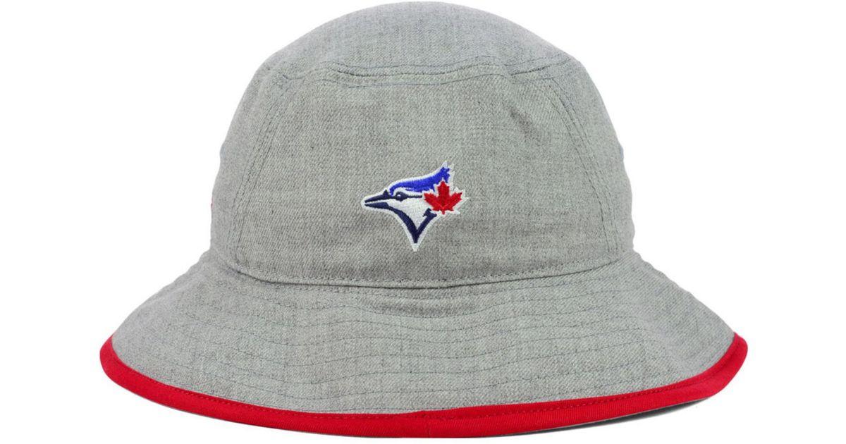 9999912428552 ... lyst ktz toronto blue jays heather tipped bucket hat in gray for men