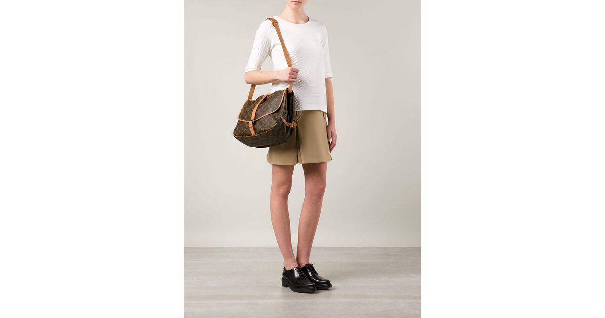 767499f5c7cb Lyst - Louis Vuitton  saumur 35  Shoulder Bag in Brown