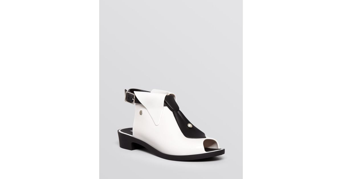 Melissa Shoes Black Tie Karl Lagerfeld