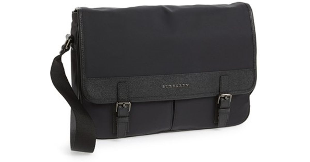 fbc11de014ad Lyst - Burberry  fairbank  London Leather   Nylon Messenger Bag in Black  for Men