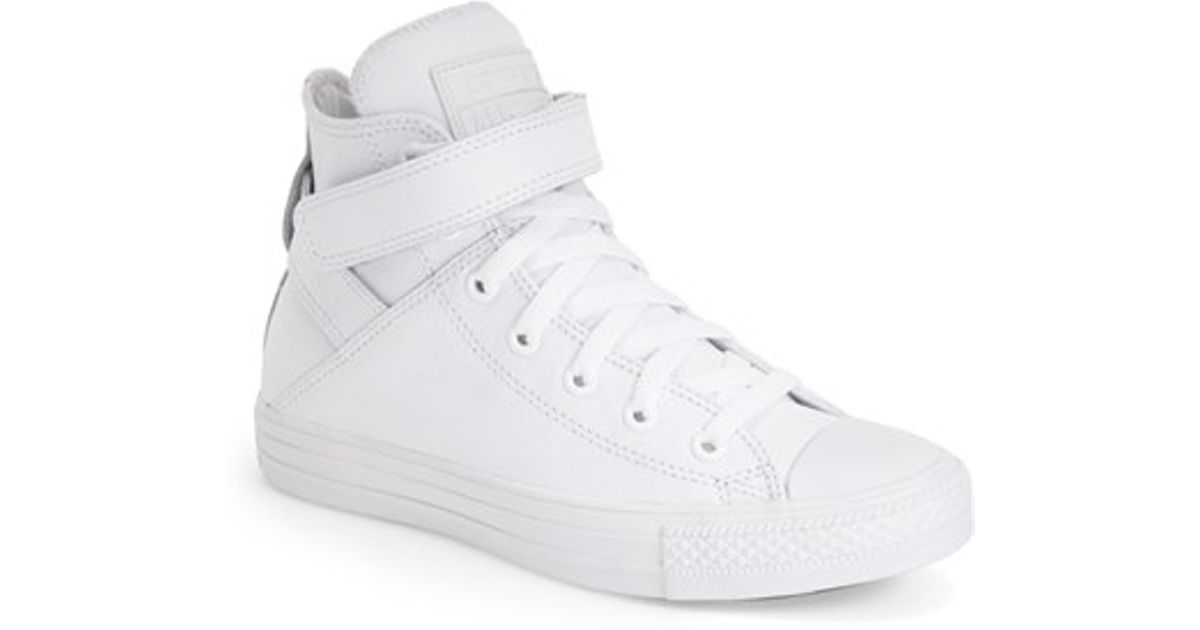 cdcba06d4315 ... canada lyst converse chuck taylor all star brea leather high top  sneaker in white 43e07 875f7
