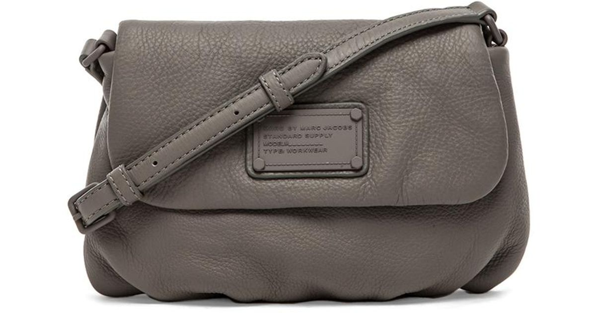 cc41765464ba Lyst - Marc By Marc Jacobs Electro Q Flap Percy Bag in Gray