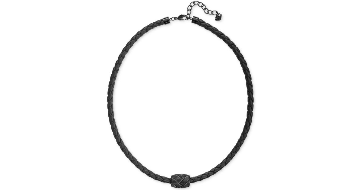 cord guys necklace product steel jewelry for to stainless long clasp real lobster mens choker inch trendy black braided leather