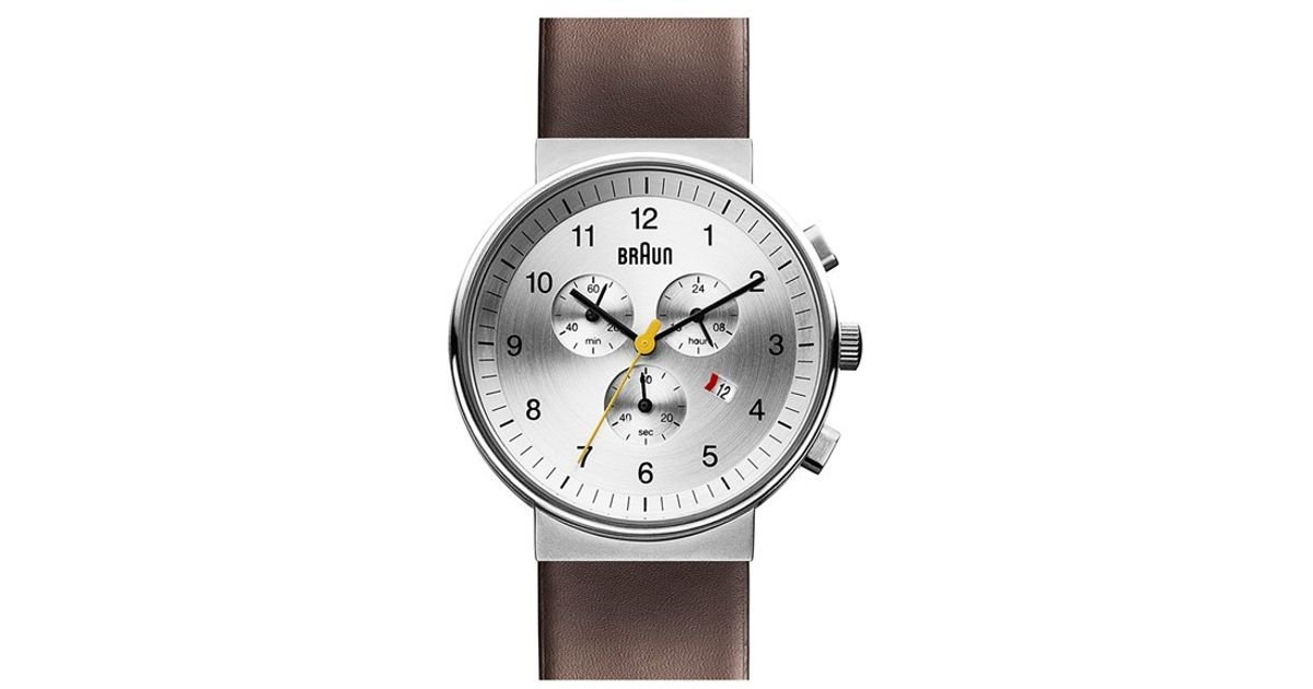 e8eaa03f08c9d Lyst - Braun  classic  Chronograph Leather Strap Watch in Brown for Men