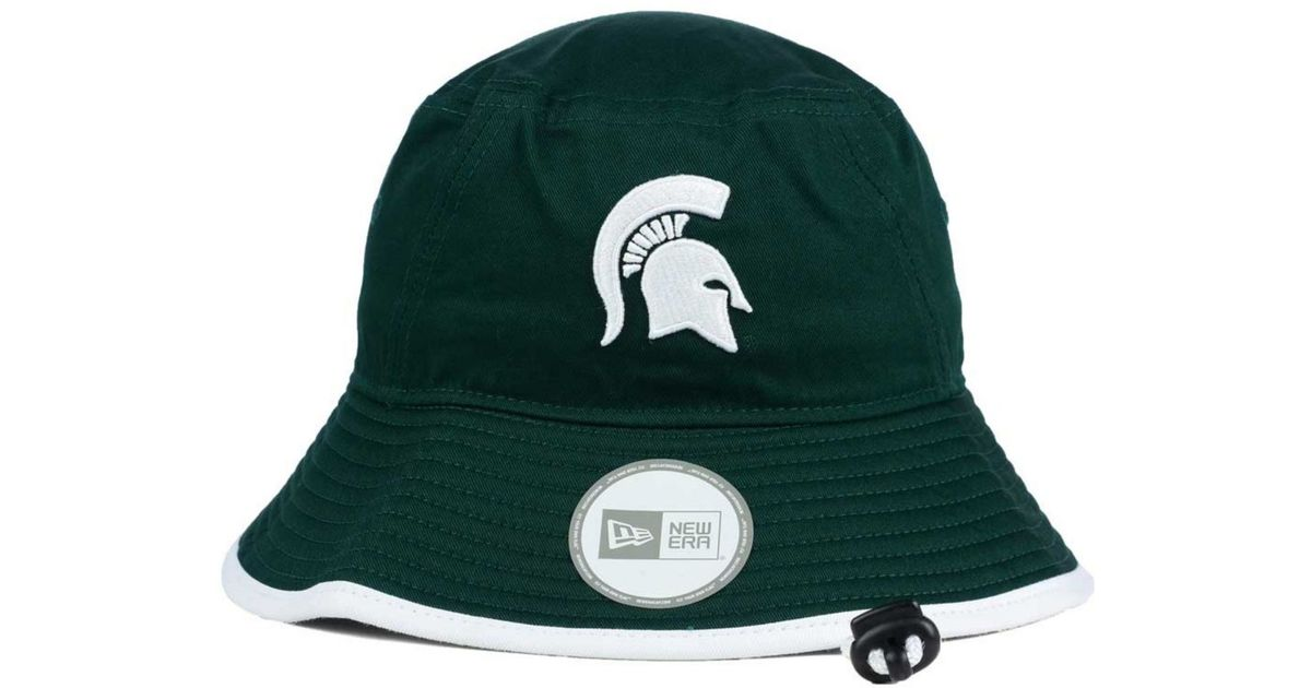 72c97ae42304 ... switzerland lyst ktz michigan state spartans tip bucket hat in green  for men 9a436 d9a8e