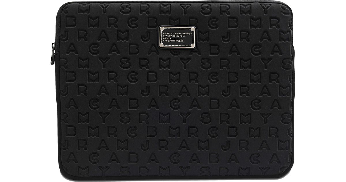marc by marc jacobs laptop cover 15 dreamy logo in black lyst. Black Bedroom Furniture Sets. Home Design Ideas