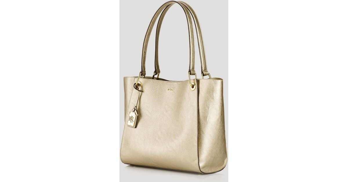 a30383517b Lyst - Ralph Lauren Lauren Tote - Metallic Aiden Shopper in Metallic