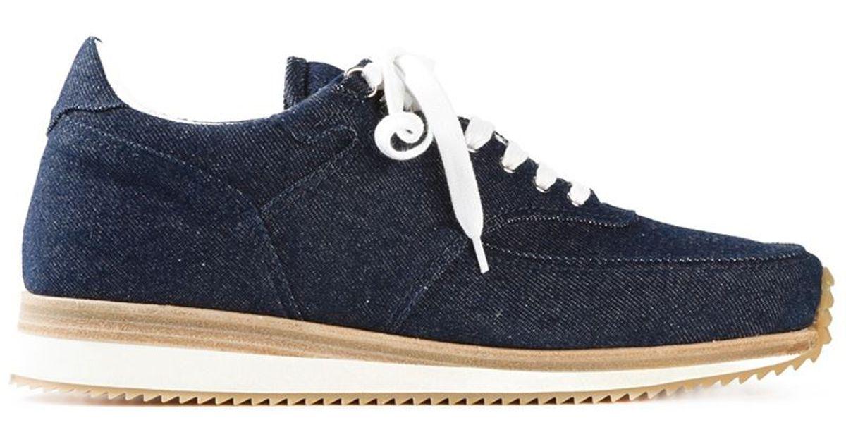 Indigo Denim Sneakers Kris Van Assche K8DYJnV9