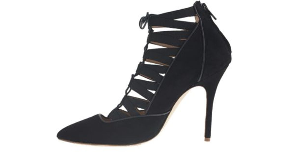 3d8a278e7f J.Crew Collection Lace-Up Caged Pumps in Black - Lyst