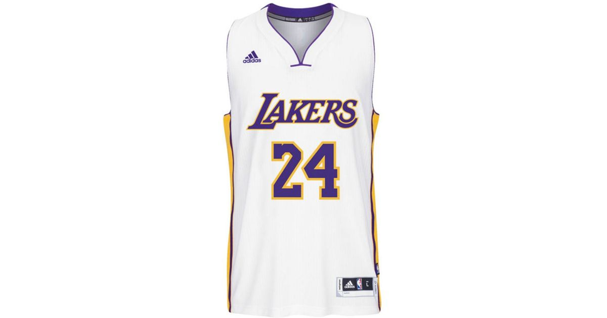 68ea8d53751 Lyst - Adidas Kids' Kobe Bryant Los Angeles Lakers Swingman Jersey in White  for Men