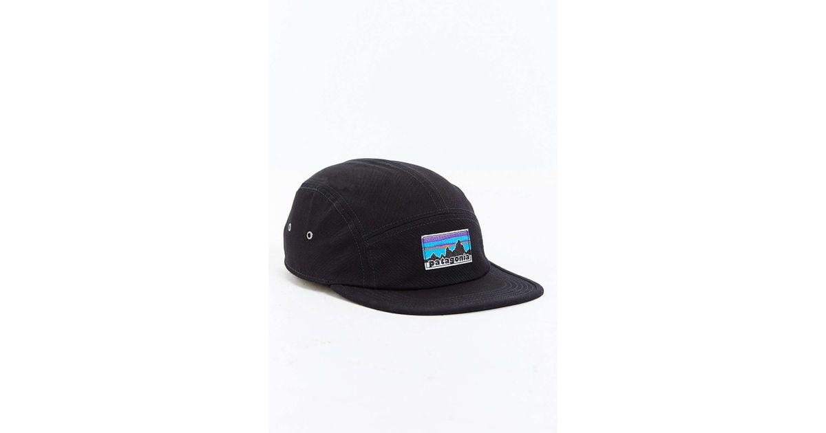 Lyst - Patagonia Retro Fitz Roy Label 5-panel Baseball Hat in Black for Men 7055085b4cf6