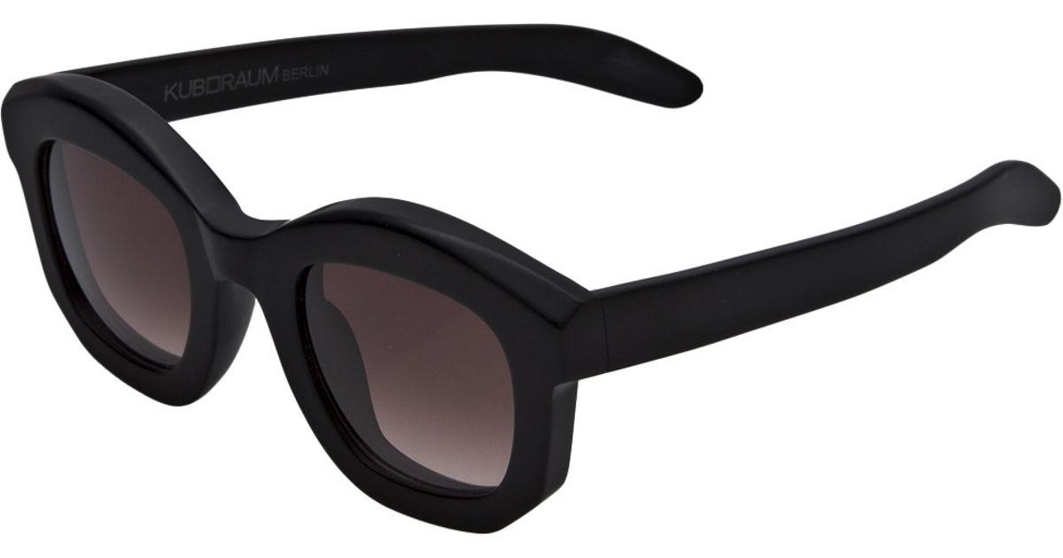 Kuboraum Thick Frame Sunglasses in Black for Men - Lyst