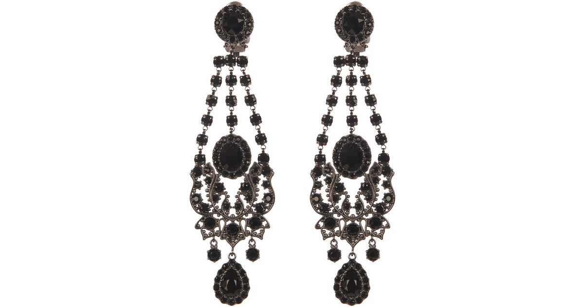 Givenchy Victorian-Style Chandelier Earrings in Black | Lyst