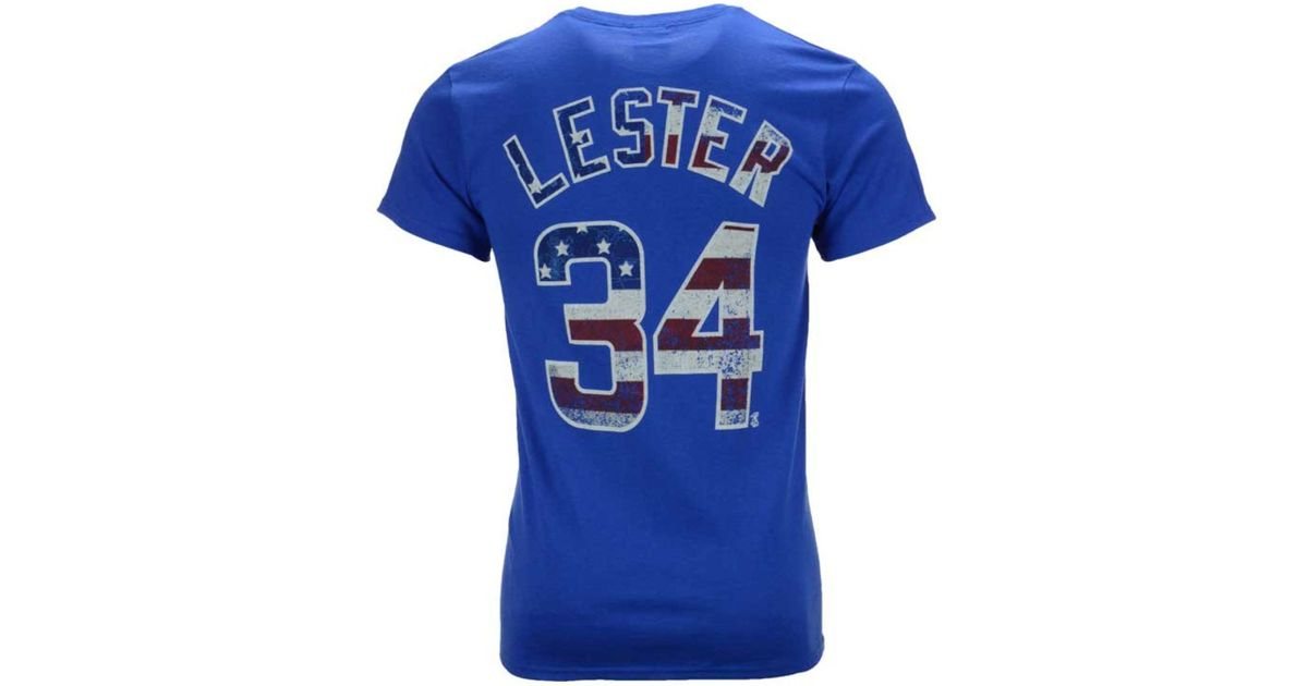 new product 603b6 8fae9 Majestic - Blue Men's Jon Lester Chicago Cubs Proud Fan Player T-shirt for  Men - Lyst