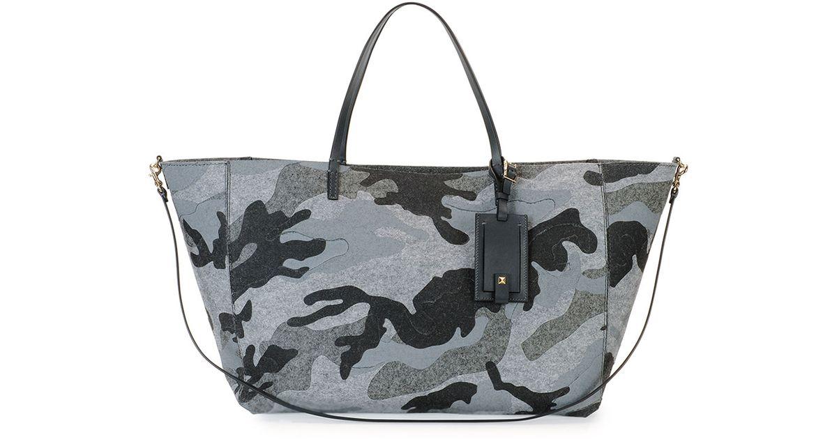 0bd721e8e227 Lyst - Valentino Camucouture Felt Tote Bag in Black