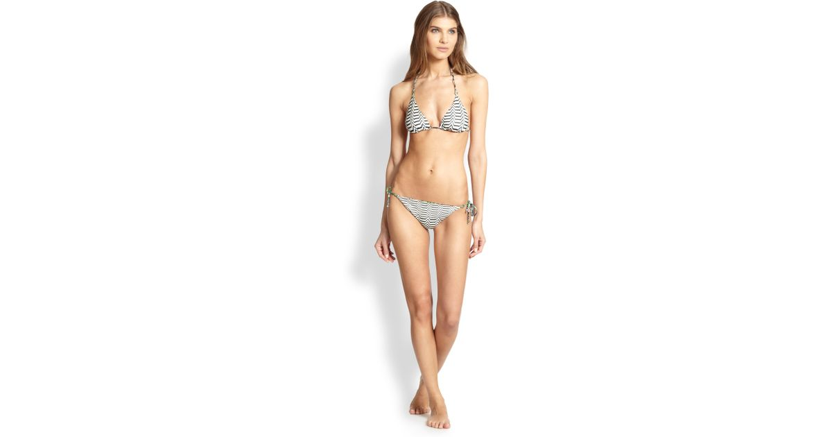 ab0f0a03171ec Lyst - Missoni Two-Piece Reversible String Bikini in Black