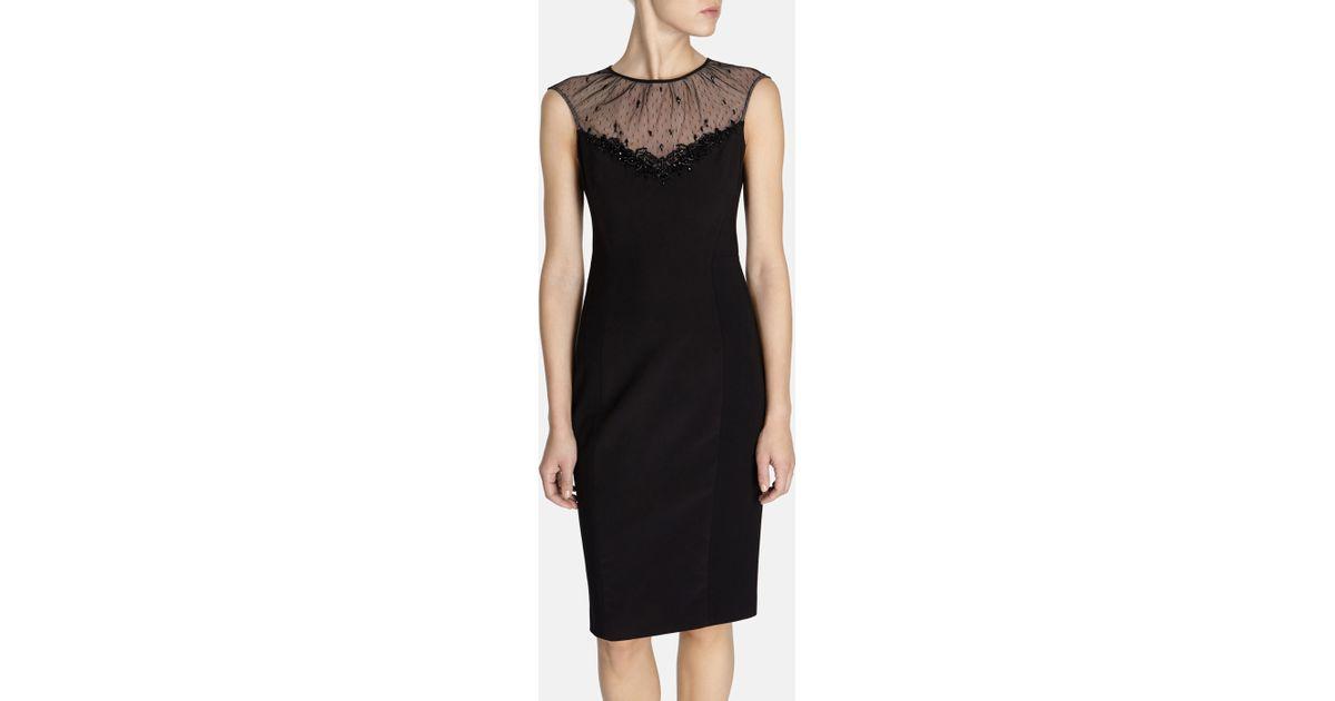 Karen Millen Beaded Cocktail Dress In Black Lyst