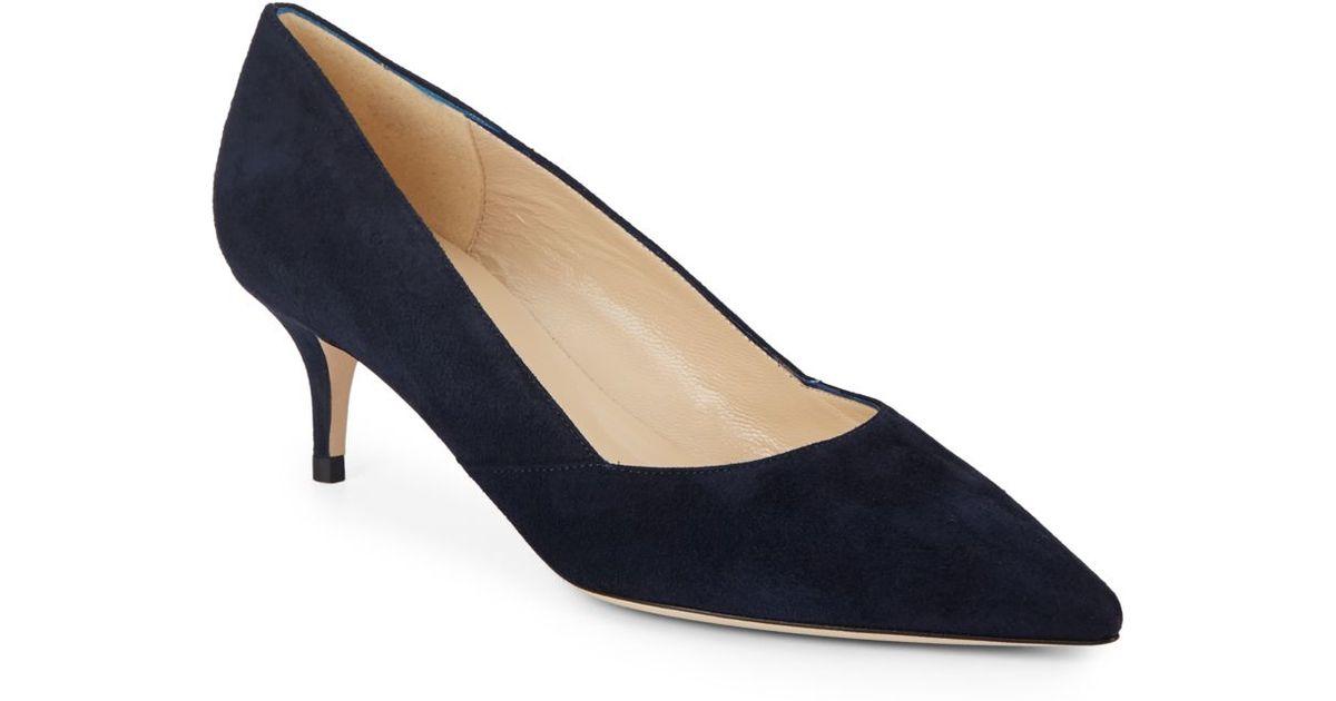 Black Friday Womens Black Suede Kitten Heel Shoes