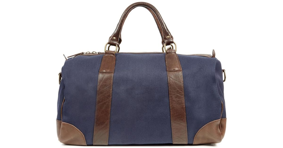 11b0ab852e6 Polo Ralph Lauren Navy And Brown Holdall in Blue for Men - Lyst