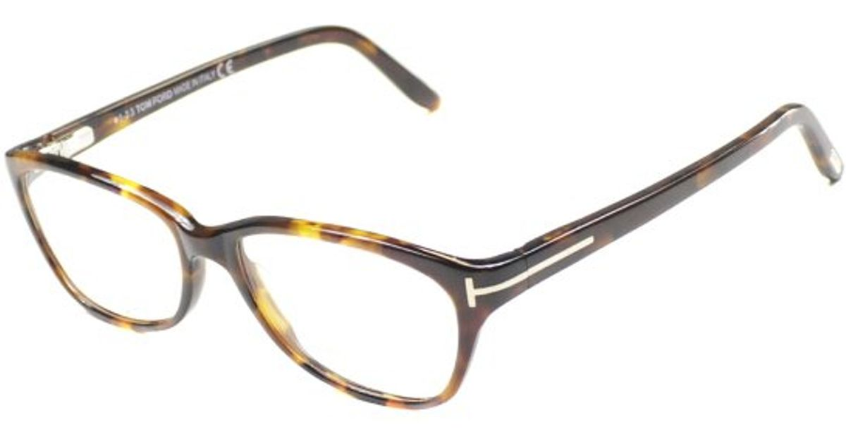 Lyst - Tom Ford Tf5142 Ft5142 052 Spotted Brown Rectangle Plastic ...