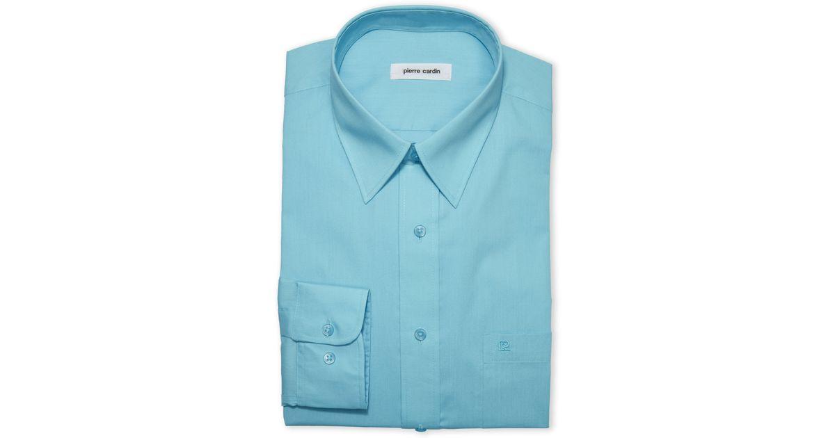 Pierre Cardin Turquoise Dress Shirt In Blue For Men Lyst