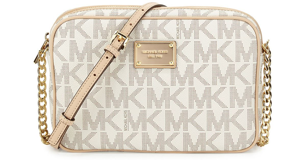 0ae7d688e7f5 Lyst - MICHAEL Michael Kors Jet Set Large Travel Crossbody in White