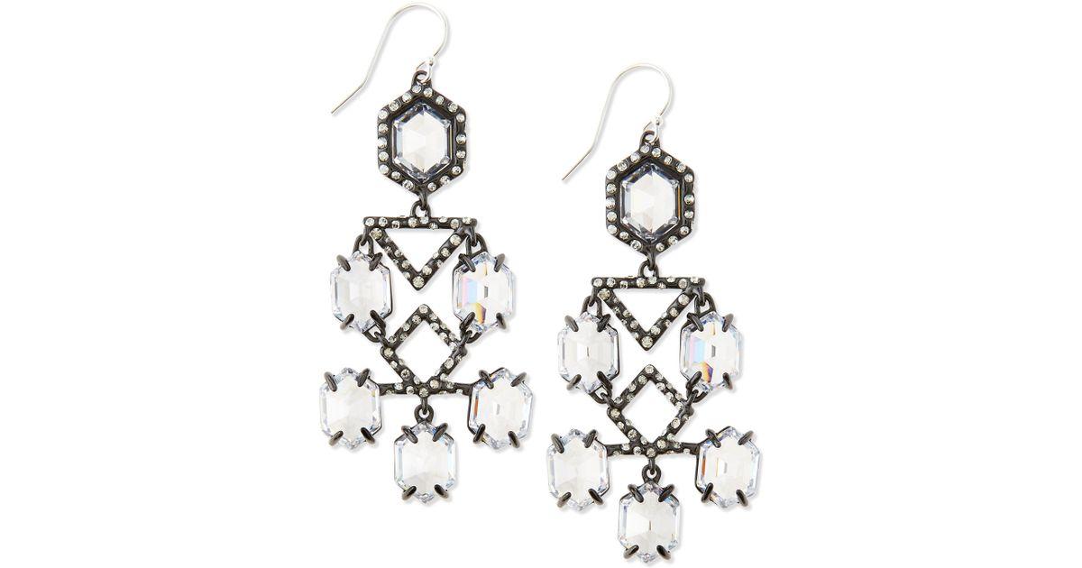 Lyst alexis bittar fancy chandelier dangle earrings clear in white aloadofball Image collections