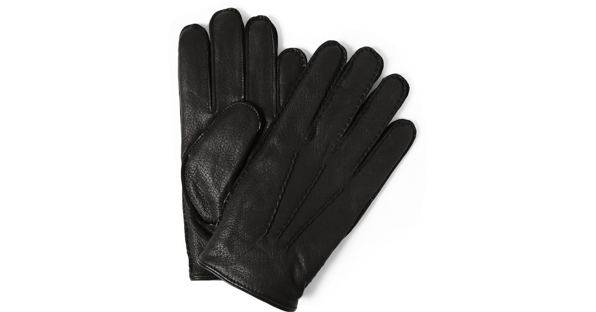 9511cdc6e6659 Polo Ralph Lauren Thinsulate Cashmere and Wool Lined-leather Gloves in Black  for Men - Lyst