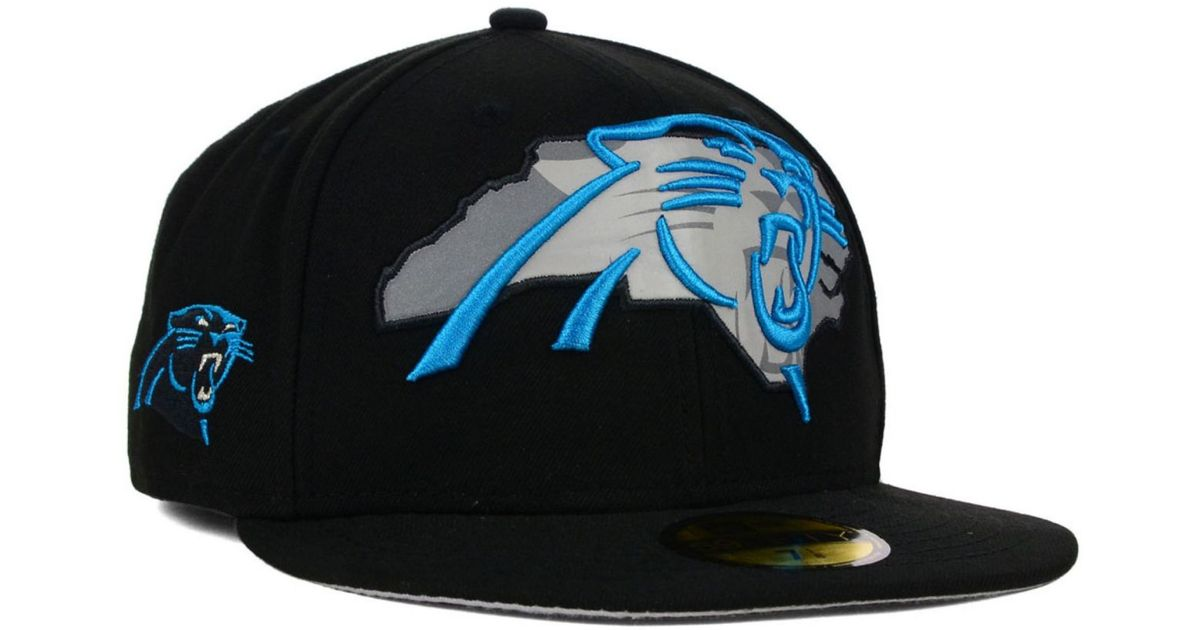 2edc0d153 ... promo code for lyst ktz carolina panthers state flective 59fifty cap in  black for men 7d22c